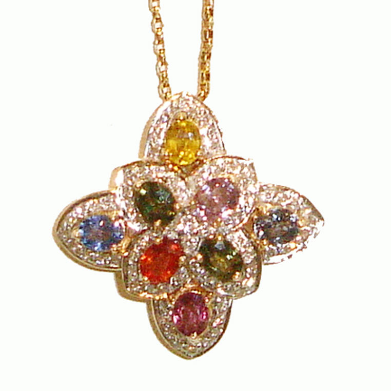 Multi Gem Pendant