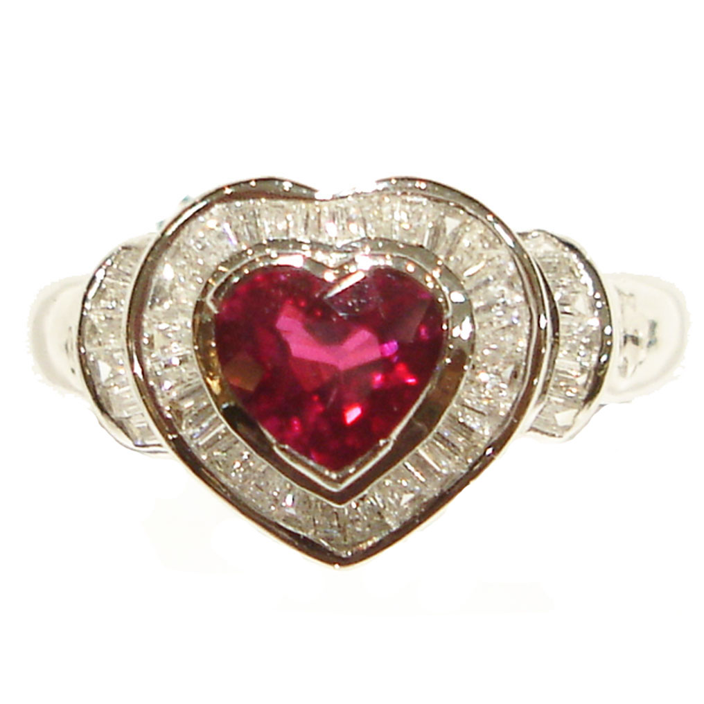 Diamond Rings With Ruby